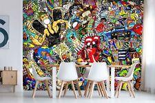 3D Music Color Graffiti 536 Wall Paper Wall Print Decal Wall Deco Indoor Murals