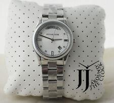 New Michael Kors Women's Colette Silver Tone Stainless Steel Watch MK6067 34mm