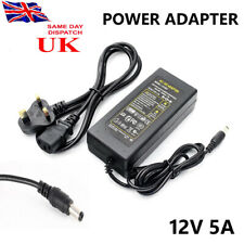 AC DC 12V 5A Power Supply Adapter Charger For 3528 5050 LED Strip Light CCTV DVR