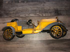 Beautiful Yellow Vintage Antique Burwood Syroco 3D Wall Classic Car Plaque