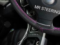 Pour BMW 5 E60 E61 2003-2010 Housse Volant Cuir Rose Vif Double Point