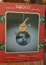 1990 Enesco Treasury Ornament Wee Tree Trimmer 1st in Series Tumbles NIB NEW