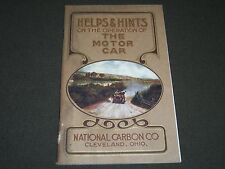1907 OPERATION OF THE MOTOR CAR PUBLISHED BY NATIONAL CARBON COMPANY - II 3020