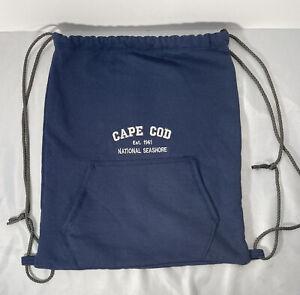 Cape Cod National Seashore Navy Sweatshirt Drawstring Backpack