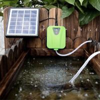 Aquarium Fish Tank Solar Power Charging Oxygenator Air Pump Oxygen Aerator Pool