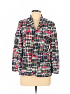 Boy Ralph Lauren Polo Navy Madras Plaid Blazer Jacket Sport Coat Size M 8/10