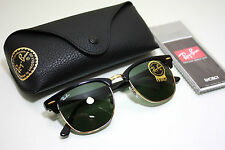 New Genuine Ray-Ban RB3016 CLUBMASTER W0365 Black Frame/ 51mm Green Lenses