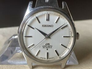 Vintage SEIKO Automatic Watch/ LORD MATIC LM 5601-9000 23J SS 1969