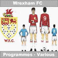 Programme Wrexham Football Club Racecourse Ground Home Programmes Various Games