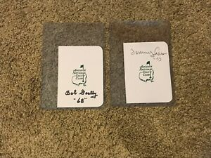Bob Goalby and Tommy Aaron signed Masters scorecard Augusta