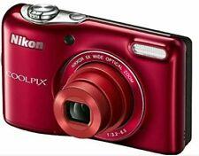 Nikon COOLPIX L32 20.1MP 720P HD Video 5X Zoom Digital Camera Red FREE SHIP