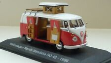 1:43 Model Volkswagen VW T1 Camper Van Westfalia Komi 1966 Diecast IXO Hachette