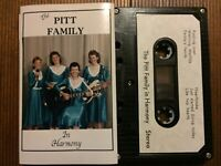 THE PITT FAMILY...IN HARMONY - - Oz Country Cassette NEW OLD STOCK! Red Cliffs