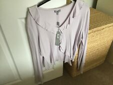 M&S PER UNA  RUFFLE FRONT TOP  NEW WITH TAGS SIZE 18