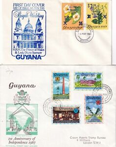 GGG5037 Guyana 12 different   First Day Covers  1966 - 1993
