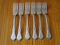 """ONEIDA Morning Blossom Dinner Forks 7.25"""" Stainless Steel Flatware EUC set of 6"""