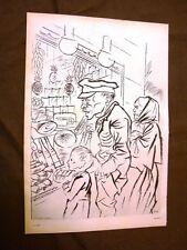 Stampa del 1941 Seconda guerra mondiale WW2 La fame di Grosz, Zille, Nagel, Dix