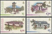 Hong Kong 1995 Pagoda/Houses/Village/Buildings/Architecture 4v set (n38502)