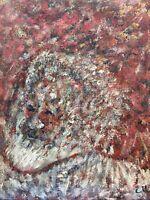 Portrait Mann mit Bart Expressiv 42,5 x 32,5 cm Carl Helmuth signiert