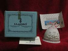 Lladro Campanita Navidad Christmas Ornament with Box 5458 Pink/White Bell 1987