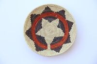 Hand Woven SouthWestern shallow bowl Baskets, approx. 13in Wide, 2-4in Deep