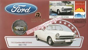 PNC Australia 2017 Ford 1965 Cortina MKI GT500 RAM 50c Coin Gold O/P ANDA Sydney