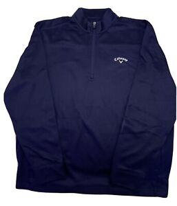 CALLAWAY Mens 1/4 Zip Pullover Long Sleeve Blue L Sweatshirt
