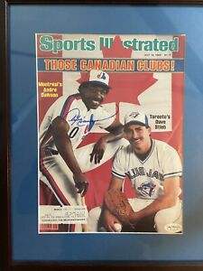 Andre Dawson Expos Signed 1983 Sports Illustrated JSA Authenticated