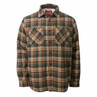 Coleman Sherpa Lined Flannel Shirt Jacket Khaki Plaid. Men's Size L MSRP$100