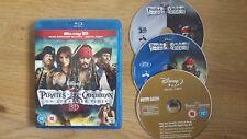Pirates Of The Caribbean - On Stranger Tides 3D & 2D Blu-ray, 2011, 3-Disc Set