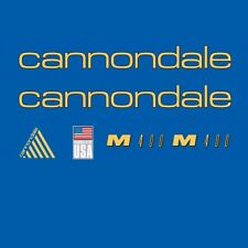 Cannondale M400 Bicycle Decals, Transfers, Stickers: Gold n.205