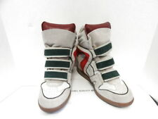 81ad104f73be ISABEL MARANT ETOILE BEIGE GREEN RED SUEDE HIGH TOP SNEAKERS 38 8