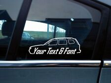 2x Custom YOUR TEXT car sticker - for Subaru Forester ( SH / 3rd gen, 2008+)