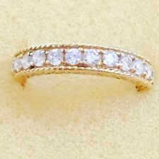 Solid 14K Yellow Gold Eternity all Round Cubic Zirconias Eternity Band