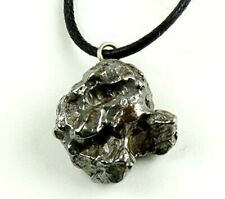 Authentic Meteorite Pendant Necklace Velvet Pouch Adjustable Waxed Cotton Cord