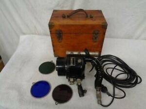 Vintage Marine Nautical Ship Signal Light with Original tri color glass and box