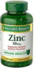Nature's Bounty Zinc 50mg, 400 Caplets Exp. 10/24