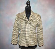 Lauren Ralph Lauren Women's Jacket Size 4 Green with Brown Plaid Wool Blazer