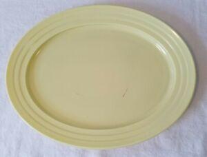 Vintage Hazel-Atlas Moderntone Platonite Yellow Glass Platter