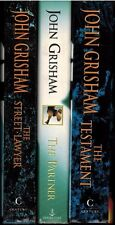 John Grisham..The Partner, The Street Lawyer, The Testament...Hardcover, 3 Books
