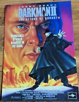 DARKMAN 2 - LARRY DRAKE - QUAD Movie Poster - FREE NEXT DAY DELIVERY