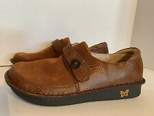 Alegria PG Lite BRE-273 Women's Size 40 Brown Leather Strap Comfort Shoes NWT