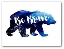 Be Brave Art, Ocean Bear Nursery Art, 8 x 10 Inches, Unframed