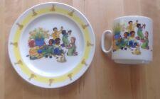 ROSENTHAL Germany VARIATION Child's Plate And Mug Rare! Nice!