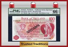 "TT PK 64CS1 1978 NORTHERN IRELAND 100 POUNDS ""SPECIMEN"" PMG 66 EPQ GEM!"