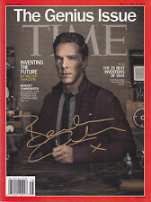 Benedict Cumberbatch signed TIME magazine