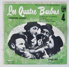 Dédicace Les Quatre Barbus 45 tours 1981