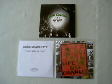 GOOD CHARLOTTE job lot of 3 promo CDs Life Changes I Just Wanna Live The Anthem
