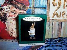 Learning To Skate`1993`Miniature-Litt le Elf On Skates,Hallmark Tree Ornament-New