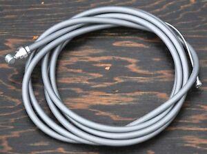 Gray Brake Cable Kit Housing Button Fixie Bicycle BMX Schwinn Cruiser Bike Brake